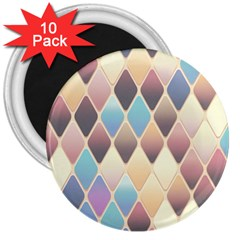 Abstract Colorful Background Tile 3  Magnets (10 Pack)