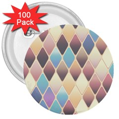 Abstract Colorful Background Tile 3  Buttons (100 Pack)