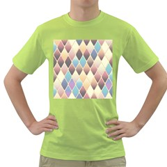 Abstract Colorful Background Tile Green T Shirt