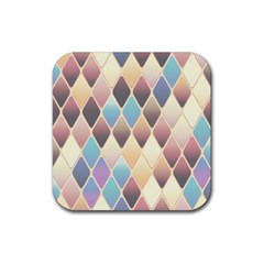 Abstract Colorful Background Tile Rubber Square Coaster (4 pack)