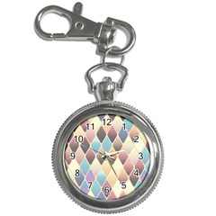 Abstract Colorful Background Tile Key Chain Watches