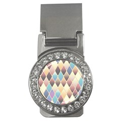 Abstract Colorful Background Tile Money Clips (cz)