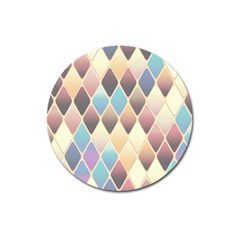 Abstract Colorful Background Tile Magnet 3  (round)