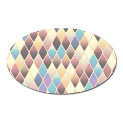 Abstract Colorful Background Tile Oval Magnet