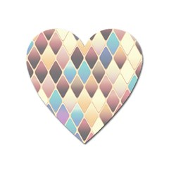 Abstract Colorful Background Tile Heart Magnet