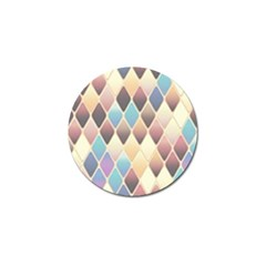 Abstract Colorful Background Tile Golf Ball Marker
