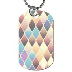 Abstract Colorful Background Tile Dog Tag (two Sides)