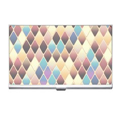 Abstract Colorful Background Tile Business Card Holders