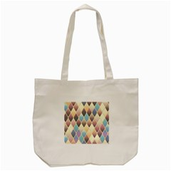 Abstract Colorful Background Tile Tote Bag (cream)