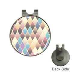 Abstract Colorful Background Tile Hat Clips With Golf Markers