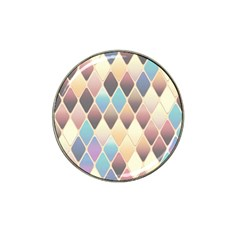 Abstract Colorful Background Tile Hat Clip Ball Marker (4 Pack)