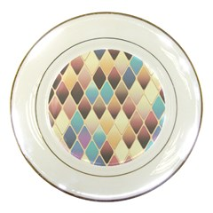 Abstract Colorful Background Tile Porcelain Plates