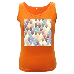 Abstract Colorful Background Tile Women s Dark Tank Top