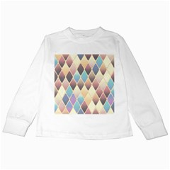 Abstract Colorful Background Tile Kids Long Sleeve T Shirts