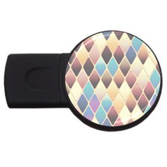 Abstract Colorful Background Tile Usb Flash Drive Round (4 Gb)