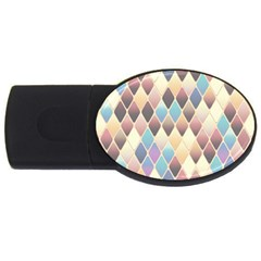 Abstract Colorful Background Tile Usb Flash Drive Oval (4 Gb)