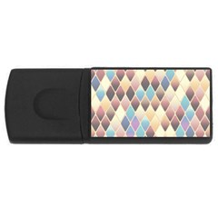 Abstract Colorful Background Tile Usb Flash Drive Rectangular (4 Gb)