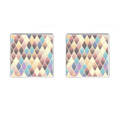 Abstract Colorful Background Tile Cufflinks (square)