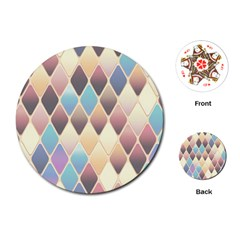 Abstract Colorful Background Tile Playing Cards (round)