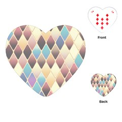 Abstract Colorful Background Tile Playing Cards (heart)