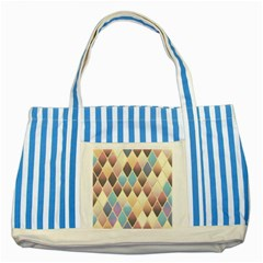 Abstract Colorful Background Tile Striped Blue Tote Bag