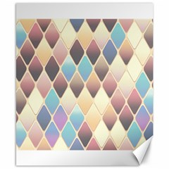 Abstract Colorful Background Tile Canvas 8  X 10