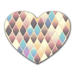 Abstract Colorful Background Tile Heart Mousepads