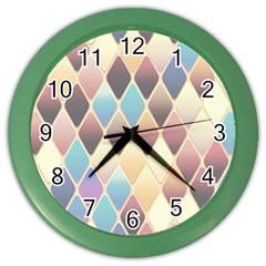 Abstract Colorful Background Tile Color Wall Clocks