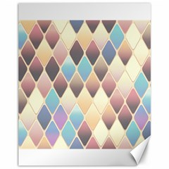 Abstract Colorful Background Tile Canvas 11  X 14