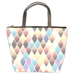 Abstract Colorful Background Tile Bucket Bags