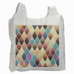 Abstract Colorful Background Tile Recycle Bag (one Side)