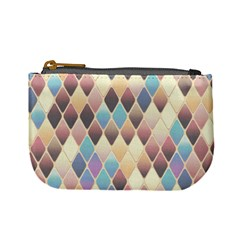 Abstract Colorful Background Tile Mini Coin Purses