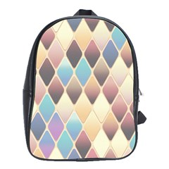 Abstract Colorful Background Tile School Bags(Large)