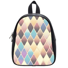 Abstract Colorful Background Tile School Bags (small)