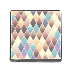 Abstract Colorful Background Tile Memory Card Reader (Square)