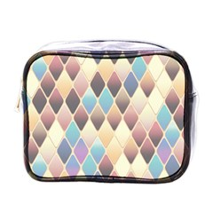 Abstract Colorful Background Tile Mini Toiletries Bags