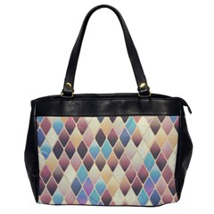 Abstract Colorful Background Tile Office Handbags