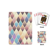 Abstract Colorful Background Tile Playing Cards (mini)