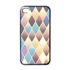 Abstract Colorful Background Tile Apple Iphone 4 Case (black)