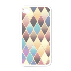 Abstract Colorful Background Tile Apple Iphone 4 Case (white)