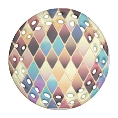 Abstract Colorful Background Tile Ornament (round Filigree)