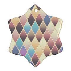 Abstract Colorful Background Tile Ornament (snowflake)