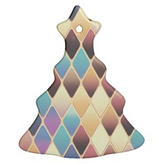 Abstract Colorful Background Tile Christmas Tree Ornament (2 Sides)