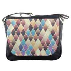 Abstract Colorful Background Tile Messenger Bags