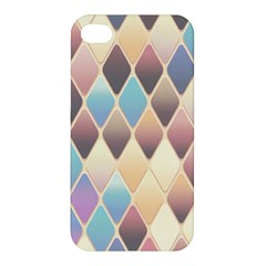 Abstract Colorful Background Tile Apple Iphone 4/4s Premium Hardshell Case