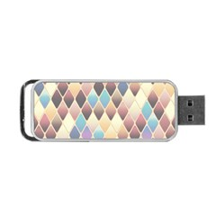 Abstract Colorful Background Tile Portable Usb Flash (one Side)
