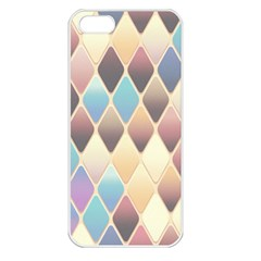 Abstract Colorful Background Tile Apple Iphone 5 Seamless Case (white)