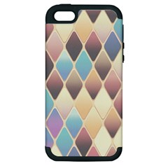 Abstract Colorful Background Tile Apple Iphone 5 Hardshell Case (pc+silicone)