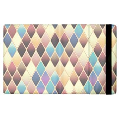 Abstract Colorful Background Tile Apple Ipad 2 Flip Case