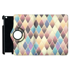 Abstract Colorful Background Tile Apple Ipad 2 Flip 360 Case